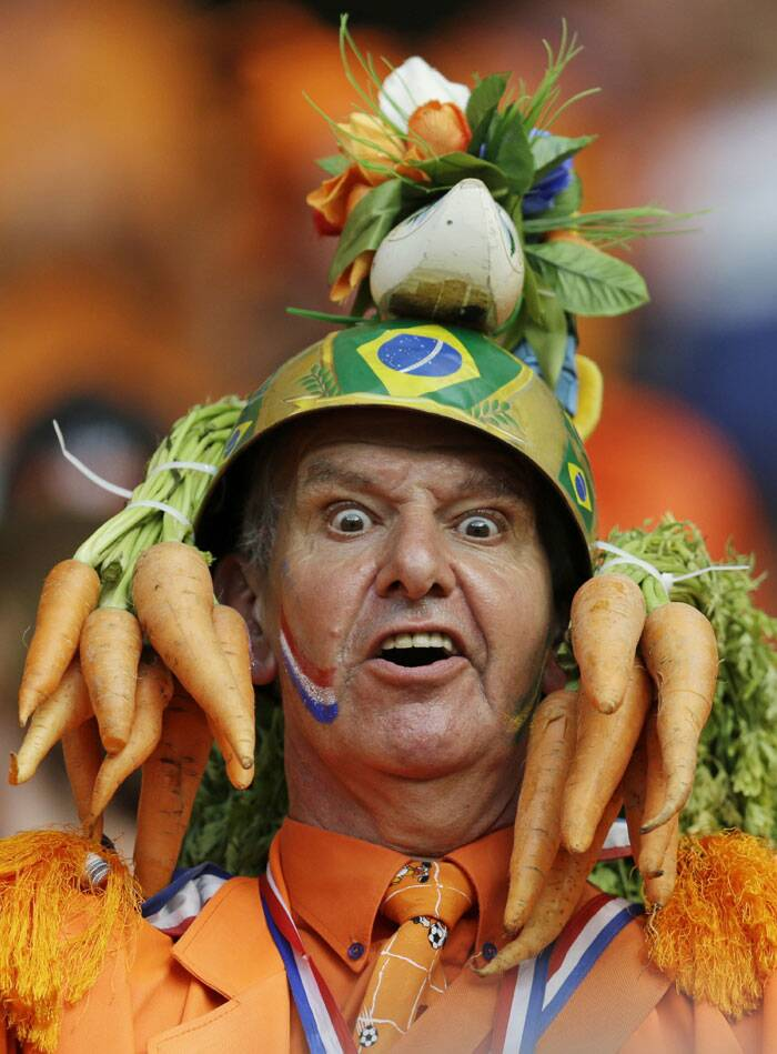 L'Oranje: The Dutch fans have had a lot to cheer about this world cup. (Source: AP)