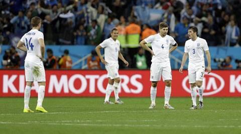 England lost their first two Group D games against Italy and Uruguay. (Source: AP)