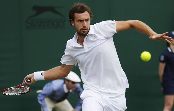 In another upset, Sergiy Stakhovsky beat 12th-seeded Ernests Gulbis (in pic) 6-4, 6-3, 7-6 (5)(Source: AP)