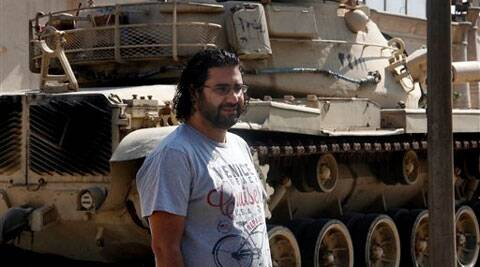 A file photo of eminent activist Alaa Abdel-Fattah. (Source: AP)