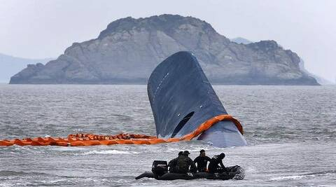 File photo of sunken South Korean ferry Sewol. ( Source: Reuters )