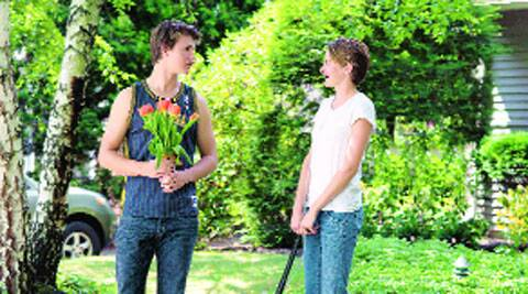 Ansel Elgort and Shailene Woodley in The Fault in Our Stars.