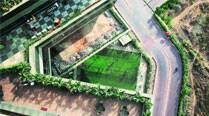 The top view of a football match being played at a Powai business park. Photos: Prashant Nadkar