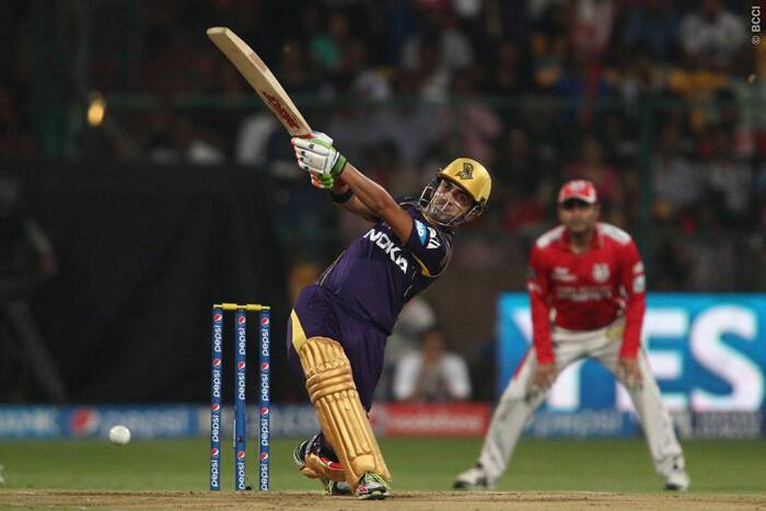 Captain Gautam Gambhir stood up to the big occasion and scored a sensible 23 off 17  to help KKR steady their innings. (Source: BCCI/IPL)