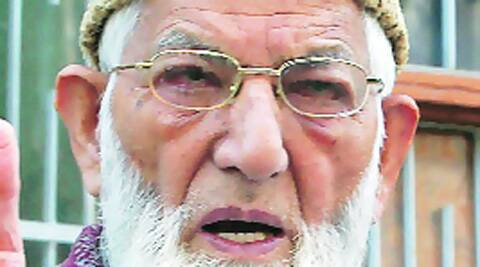 Syed Ali Shah Geelani, Hurriyat chairman. Source: Express