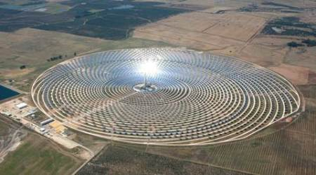 Senerr is also a global leader in solar energy. Aerial view of Gemasolar plant owned by Torresol Energy Investments, S.A.