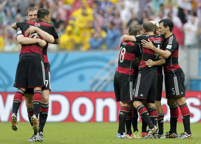 Mueller's goal ensured a 1-0 win to Germany who finished as leaders of Group G. (Source: AP)