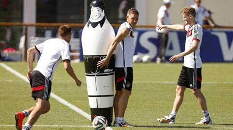 Bastian Schweinsteiger (C) and Andre Schurrle (R) are in the reckoning for a starting spot for Germany. (Source: Reuters)
