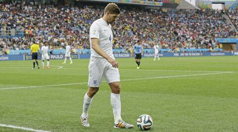 Steven Gerrard was badly hurt after England made an early exit from the World Cup, losing to Italy and Uruguay. (Source: AP)