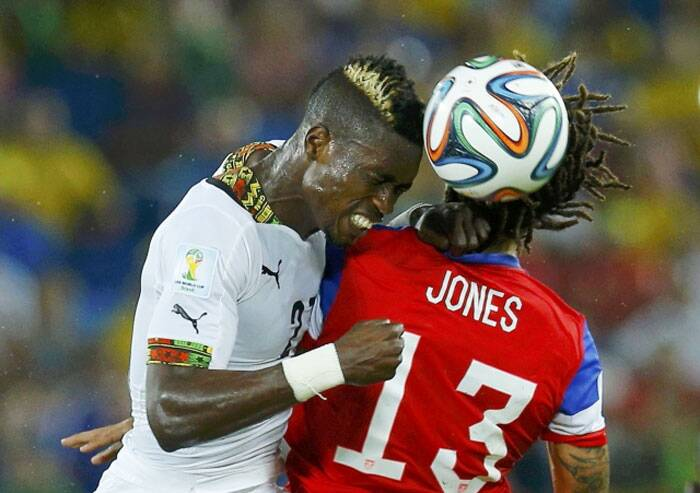 Actually the mow-hawk is the favourite of players. John Boye of Ghana doesn't only have a mow-hawk but also a golden finish to it. Now that is some experiment and it worked. (Source: Reuters)