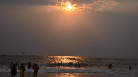 Witnessing the beautiful sunset at Goa beach Source: Sandip Hor