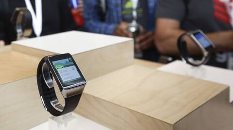 A Samsung Gear Live smartwatch is displayed at the Google I/O developers conference in San Francisco. (Reuters)