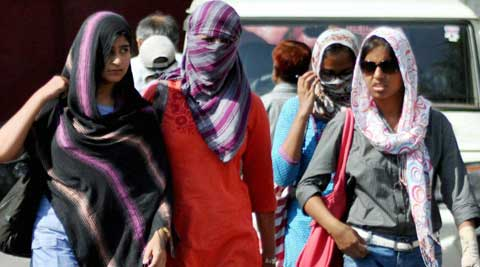 Delhiites had to sweat it out as the maximum temperature was four degrees above normal. (Source: PTI)