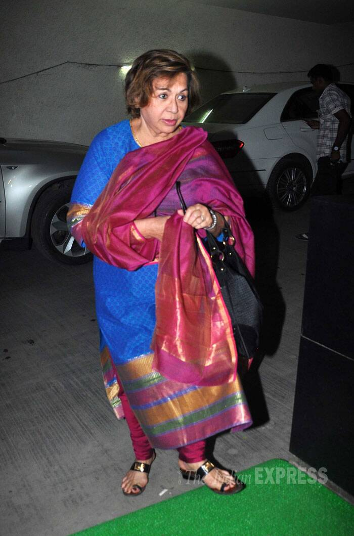 Salman Khan's stepmother and former dancing queen Helen arrives. (Source: Varinder Chawla)