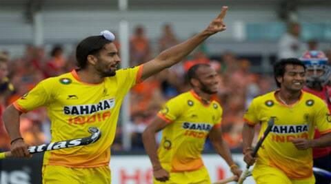 Akashdeep got into the goal-scoring act, which helped his team post its first win of the tournament (Source: Hockey India)