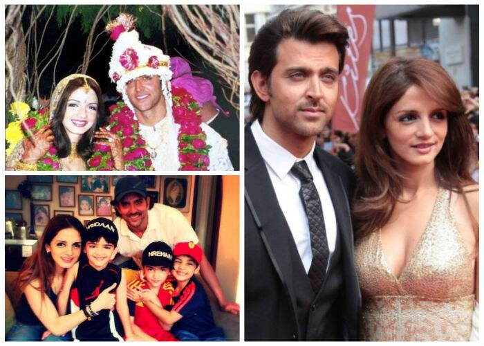 <b>Hrithik Roshan – Sussanne</b>: Childhood sweethearts Hrithik and Sussanne Roshan seemed like the perfect couple. After a relationship that continued for 17 years, Hrithik Roshan on December 13 announced that he is separating from his Sussanne. The couple that has two sons, Hrehaan and Hridhaan, filed an application for separation by mutual consent, around four months after they decided to end their marriage. While some speculated actor Arjun Rampal's involvement in their split, Sussanne clarified that nobody was to blame. Both Hrithik and Sussanne continue to be cordial with each other and have revealed that their children come first.