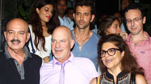 Hrithik Roshan fuelled rumours of a Hollywood venture after he was spotted dining with Hollywood filmmaker Rob Cohen.