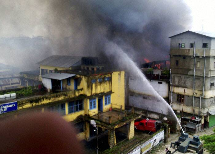 Fire breaks out in Imphal