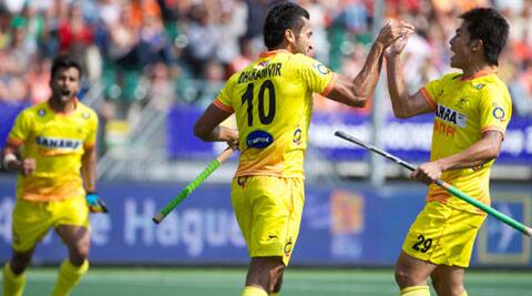 India 3-2 victory over Malaysia marked their first win in the men's hockey World Cup in The Hague (Source: Hockey India)