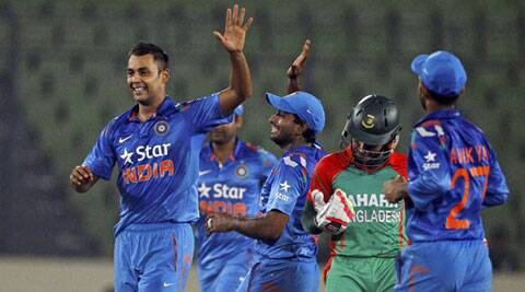 Stuart Binny starred in India's 47-run victory taking 6 for 4, the best bowling figures for India in ODIs. (Source: AP)
