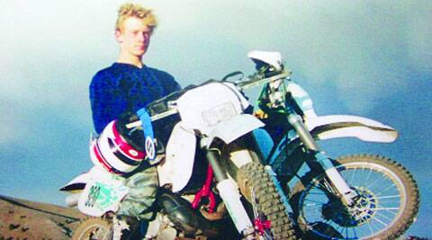 A photo provided by Bowe Bergdahl's family shows him during a motorcycle ride through Idaho. (Source: AP)