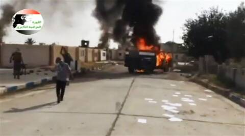 This image made from video posted by Iraqi0Revolution, a group supporting the al-Qaida breakaway ISIL (Source: AP)