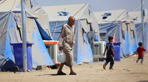 A refugee camp in Iraq. (Source: AP)
