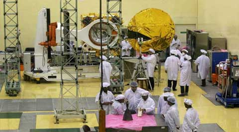 All the five satellites have been integrated with PSLV-C23 and the final phase of checks is progressing. (Source: PTI)