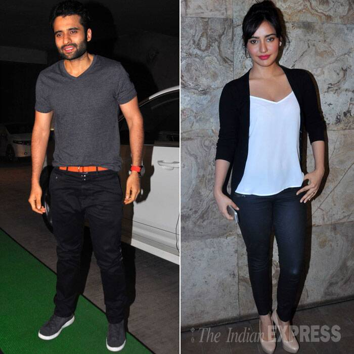 Jackky was also accompanied by his 'Youngistaan' co-star Neha Sharma. (Source: Varinder Chawla)