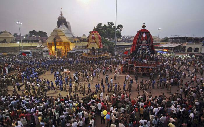 Elaborate security measures have been put in place to ensure peaceful passage of the rathyatra where lakhs of people from the city and outside would participate.<br />The procession would comprise 18 elephants, 100 trucks, 30 religious congregations, 18 singing troupes, three chariots and seven cars. The procession will pass through 127 localities, including some sensitive areas like Kalupur, Prem Darwaja, Delhi Chakla, Dariyapur and Shahpur in the old city, amid tight security arrangements.(Source:AP)