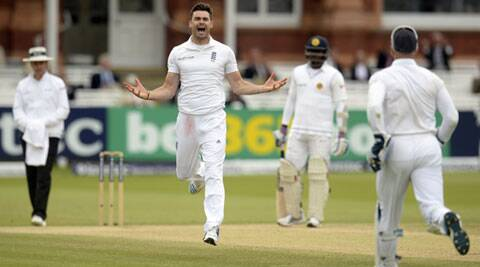 James Anderson picked up four wickets as Sri Lanka lost six wickets in the last session (Source: Reuters)