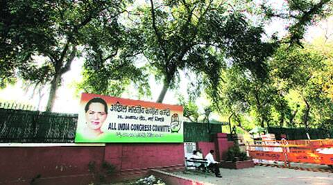 The AICC headquarters at 24, Akbar Road. (Source: express photo by Ravi Kanojia)