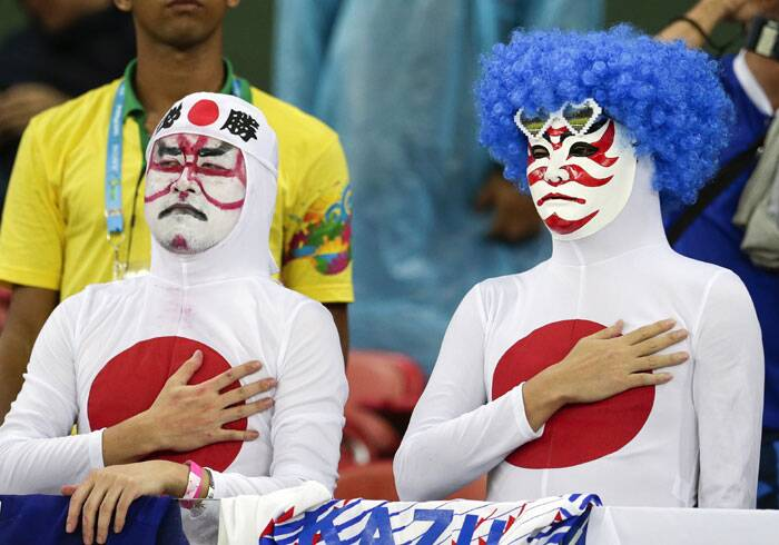 Kami-crazy: Japanese fans have been the one of the most colourful and innovative at this World Cup. (Source: AP)