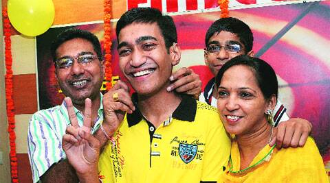 Prashant Mittal with his family.  (Kshitij  Mohan)