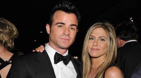 Jennifer Aniston and Justin Theroux had not been seen at a red carpet event in several months. (Source: Reuters)