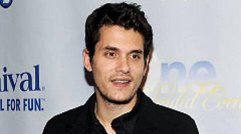 John Mayer: I have super strength for gang-ups, I'm fine. (Source: AP)