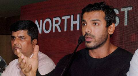 John Abraham speaks to the media during the launch of his Indian Super League franchise 'North East United FC' in Guwahati (Source: PTI)