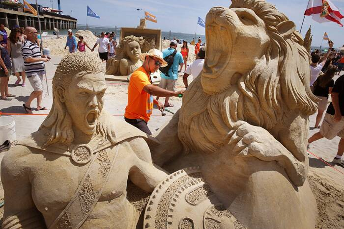 The competitors had four days to complete their sand sculptures. (Source: AP)