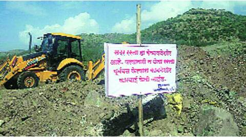 The district administration has put up boards to prevent construction activities on Katraj hillslopes.