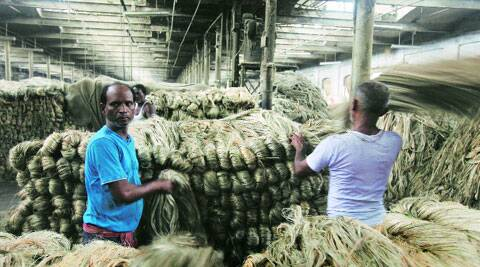 Workers at a mill in Hooghly