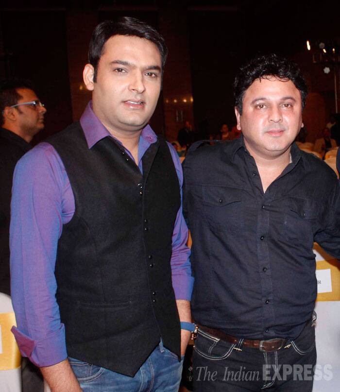 Funnymen Kapil Sharma and Ali Asgar from 'Comedy Nights With Kapil' were also seen at the launch . (Source: Varinder Chawla)