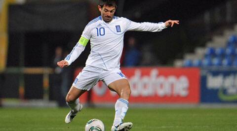 Giorgios Karagounis, the 37-year-old skipper of the side and Greece's most capped player will be leading the Greek charge. (Source: AP File)