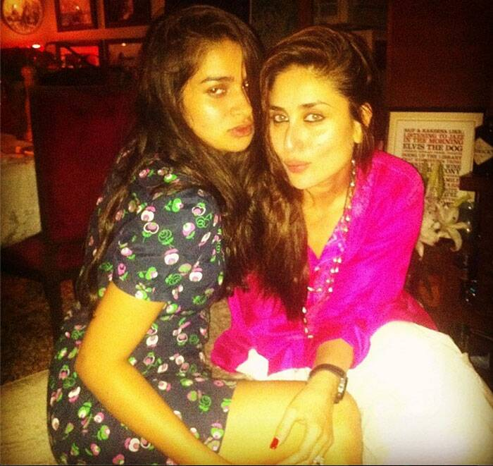 "Kareena Kapoor had hosted a private dinner recently which was attended by close friends including Amrita Arora, Karan Johar and Tusshar Kapoor. We could only get you a glimpse of her friends but here's one of the hostess herself with celebrity stylist Tanya Ghavri. <br /><br /> Tanya shared a pic of hers from inside the party with Kareena, on Instagram. Looks like the two have gobbled in a lot of wine. We can see their red red lips!  <br /><br /> Tanya also captioned it: ""Red wine nights with my amazeballs bebolicious!"".(Source: Instagram)"