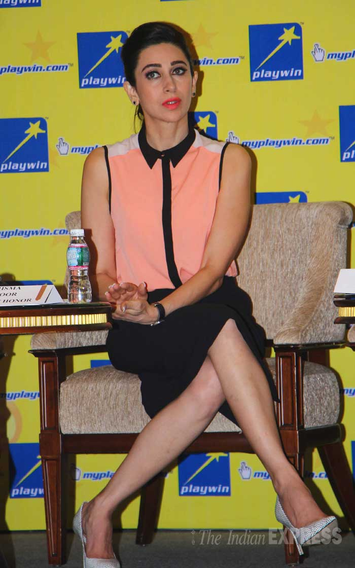In another part of the city, Karisma Kapoor was also busy with her own commitments. The actress, who has just got divorced from her husband Sanjay Kapur, avoided questions on her personal life.  (Source: Varinder Chawla)