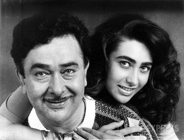 Karisma is known to be very close to her father and actor Randhir Kapoor. Even after Randhir and Babita's separation Karisma, who stayed with her mother and younger sister Kareena, reportedly took permission from her father to start her career in Bollywood. (Express archive photo)