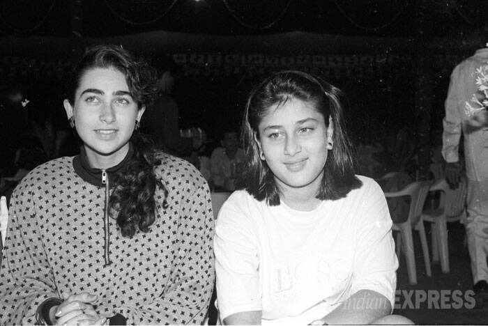 Coming back to her relationship with sister, Karisma says that she and Kareena are more like best friends than siblings. And she did help Kreena her with the basics, but now Bebo knows how to do magic herself. Karisma with her sister Kareena on the sets of Dulaara. (Express archive photo)