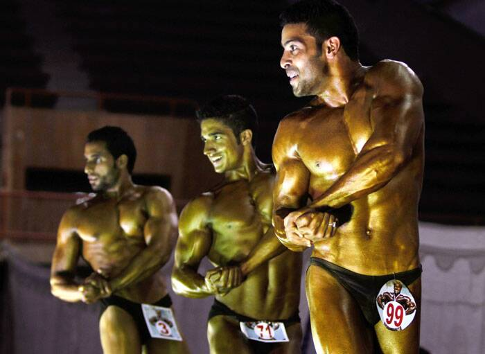 This championship held at Indoor Stadium in Srinagar was organised by District Body Building Association Srinagar in collaboration with J&K State Sports Council. (Source: AP)