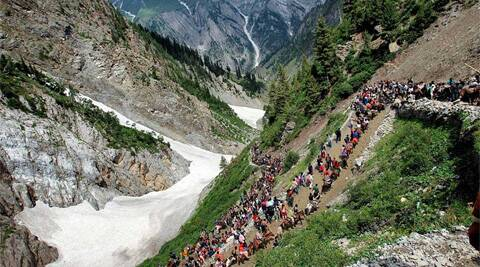 On June 25, SASB announced its decision to defer the start of the yatra from the Pahalgam route by three days as the track had not yet been completely cleared of snow. Source: PTI