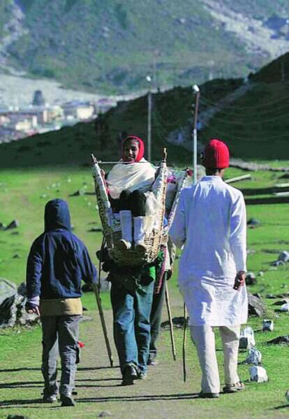 There has been a sharp drop in the number of pilgrims, from close to 15,000 a day till last year to 900 this time.