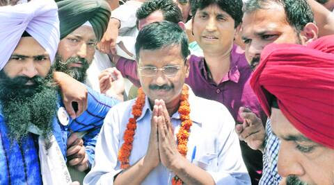 Arvind Kejriwal at Jallianwala Bagh, Amritsar,  this week. (Source: Express photo)